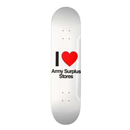 eu amo as lojas em excesso do exército skates personalizados