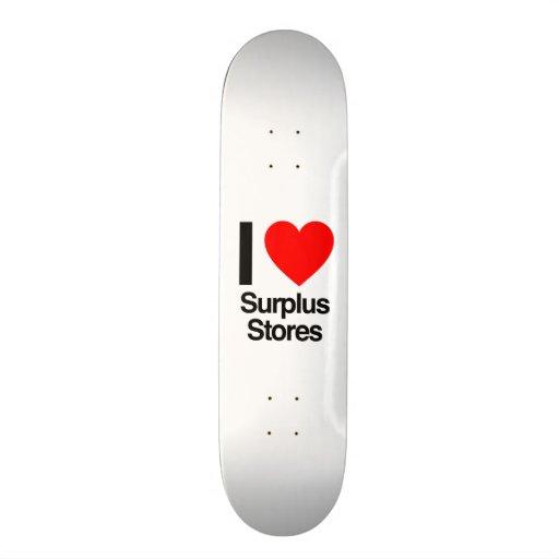 eu amo as lojas em excesso skates