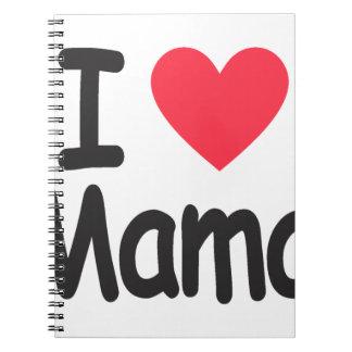 Eu amo as mamães, mamã, mãe cadernos