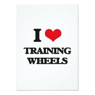 Eu amo as rodas de treinamento convite 12.7 x 17.78cm