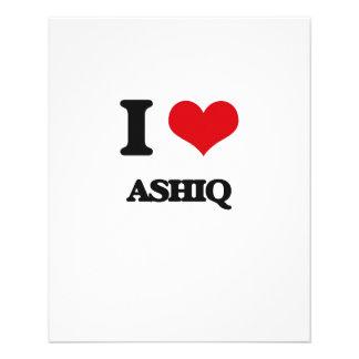 Eu amo ASHIQ Modelo De Panfletos