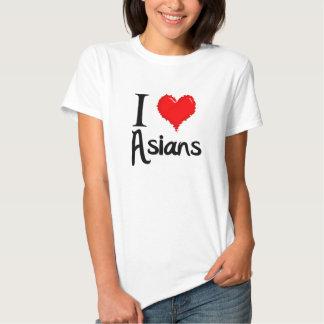 Eu amo asiáticos t-shirt