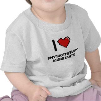 Eu amo assistentes da fisioterapia t-shirt
