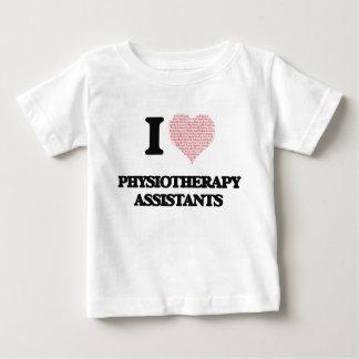 Eu amo assistentes da fisioterapia (coração feito camiseta