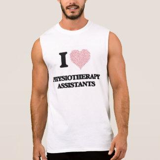 Eu amo assistentes da fisioterapia (coração feito camiseta sem manga