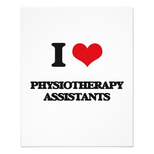 Eu amo assistentes da fisioterapia modelo de panfletos