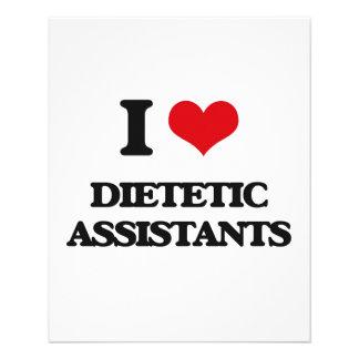 Eu amo assistentes dietéticos modelo de panfleto