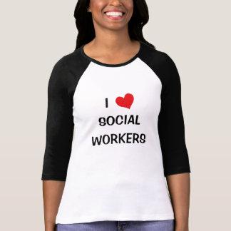Eu amo assistentes sociais camisetas