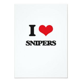 Eu amo atiradores furtivos convite 12.7 x 17.78cm