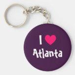 Eu amo Atlanta Chaveiros