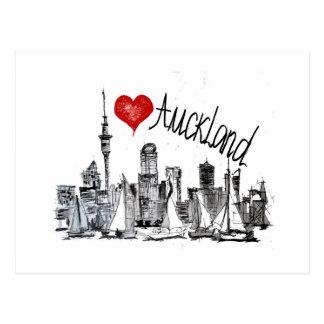 Eu amo Auckland Cartão Postal