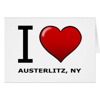 EU AMO AUSTERLITZ, NY CARTÃO