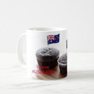 Eu amo Austrália Caneca De Café