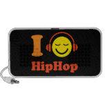 Eu amo auto-falante do Doodle do smiley da música  Caixinha De Som Para iPod