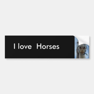 Eu amo, autocolante no vidro traseiro dos cavalos adesivo para carro