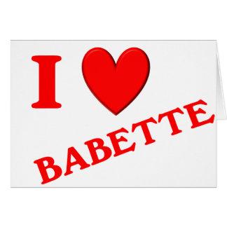 Eu amo Babette Cartoes