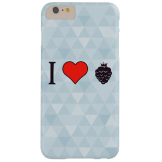 Eu amo bagas selvagens capa barely there para iPhone 6 plus