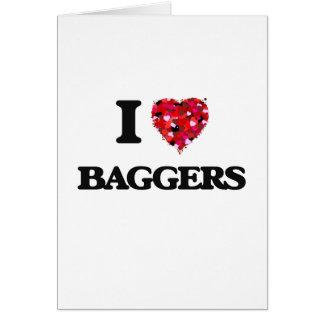 Eu amo Baggers Cartão Comemorativo