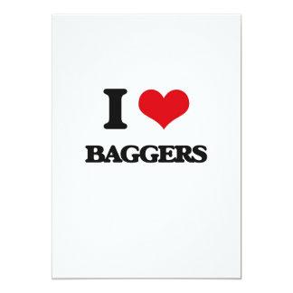 Eu amo Baggers Convites Personalizado