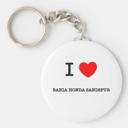 Eu amo BAÍA HONDA SANDSPUR Florida Chaveiro