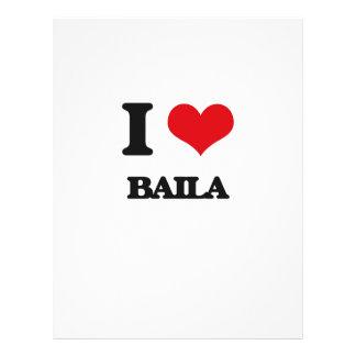 Eu amo BAILA Panfleto Personalizado