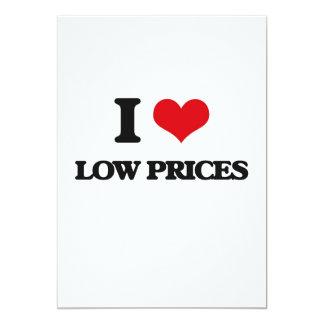Eu amo baixos preços convite 12.7 x 17.78cm