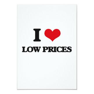 Eu amo baixos preços convite 8.89 x 12.7cm