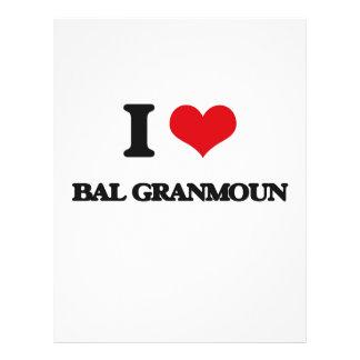 Eu amo BAL GRANMOUN Modelo De Panfleto