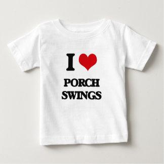 Eu amo balanços do patamar t-shirt