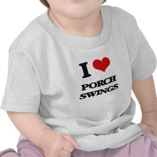 Eu amo balanços do patamar tshirts