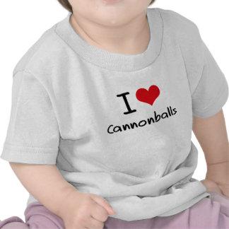Eu amo balas de canhão camisetas