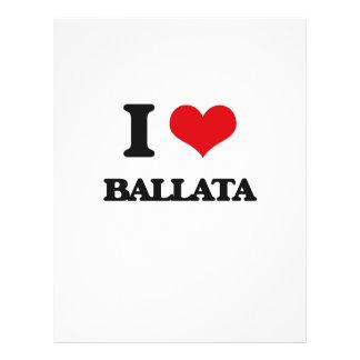 Eu amo BALLATA Modelo De Panfleto