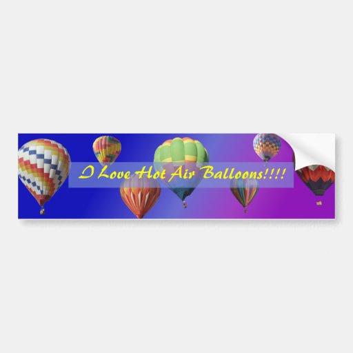 Eu amo balões de ar quente!!!! Autocolante no vidr Adesivos