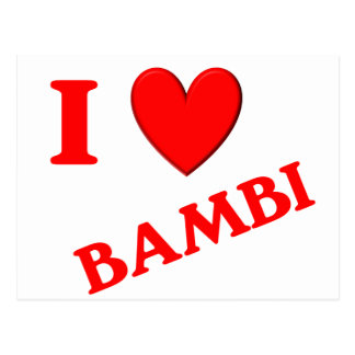 Eu amo Bambi Cartao Postal