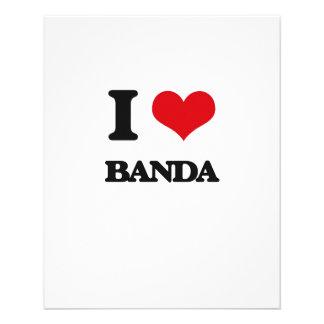 Eu amo BANDA Panfletos Personalizado