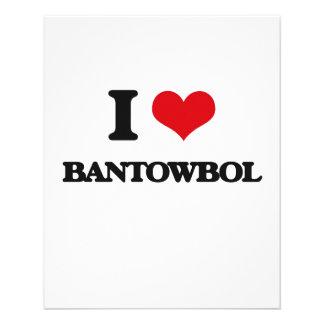 Eu amo BANTOWBOL Panfleto Coloridos