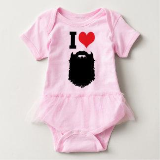 Eu amo barbas body para bebê
