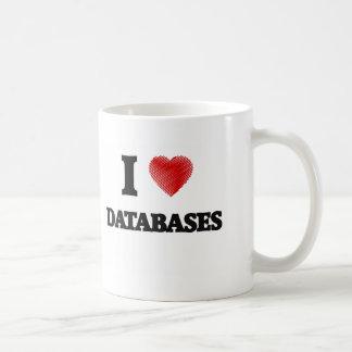 Eu amo bases de dados caneca de café