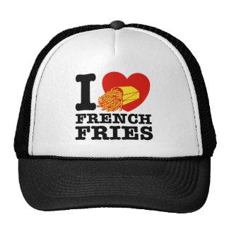 Eu amo batatas fritas boné
