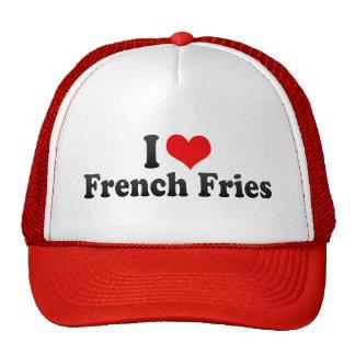 Eu amo batatas fritas bones