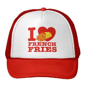 Eu amo batatas fritas bone