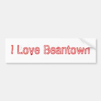 Eu amo Beantown Adesivo Para Carro