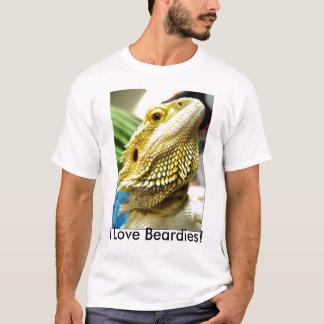 Eu amo Beardies! camisa de t