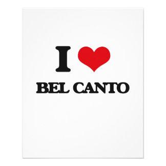Eu amo BEL CANTO Panfletos