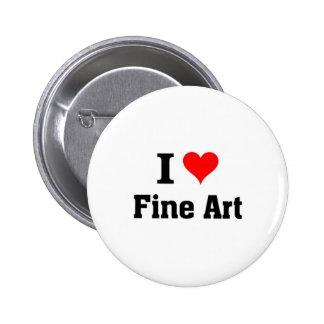 Eu amo belas artes boton