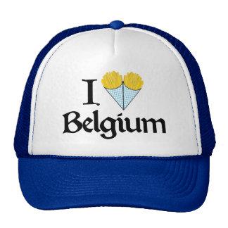 Eu amo Bélgica Boné