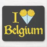 Eu amo Bélgica Mousepad