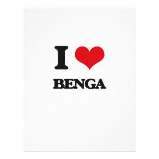 Eu amo BENGA Panfleto Personalizado
