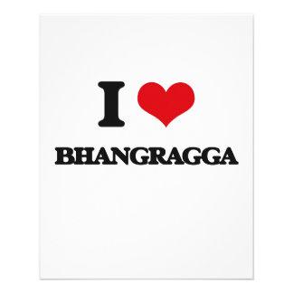 Eu amo BHANGRAGGA Modelo De Panfleto
