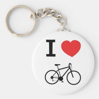 Eu amo bicicletas chaveiros